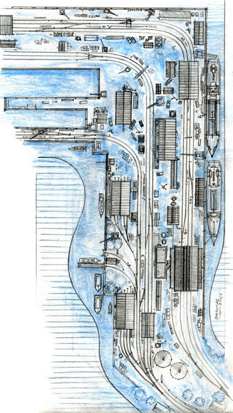 shed layout plans sodormodelrailroading brendam docks layout plans