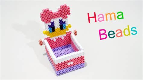 porta oggetti paperina con hama beads perler beads box jewelry