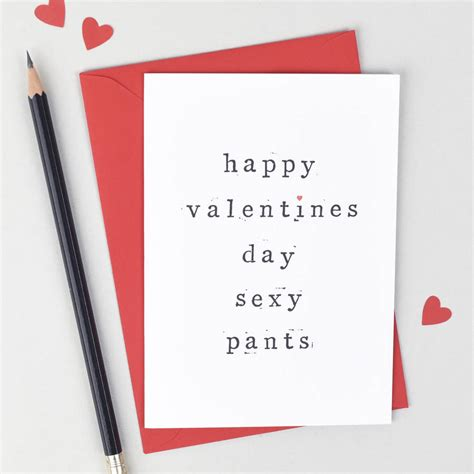 'happy Valentines Day Pants' Valentines Day Card By The ...