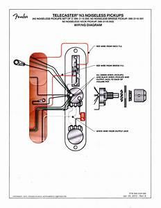 Diagrama De Conexion Noiseless N3 Fender - M U00fasica