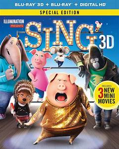 Sing DVD Release Date March 21, 2017