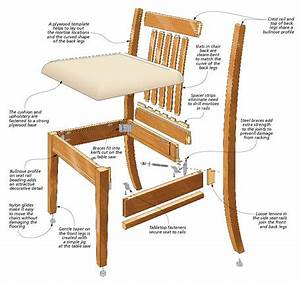 Stylish Dining Chair Woodsmith Plans