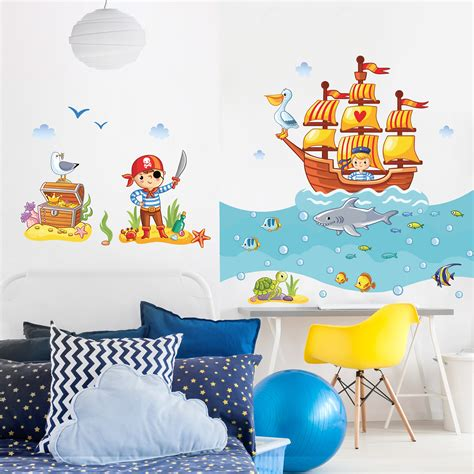Wandtattoo Kinderzimmer Piraten wandtattoo kinderzimmer piraten set