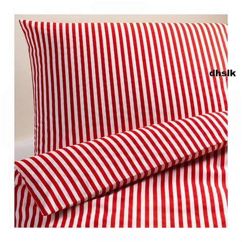 ikea red and white bedding ikea margareta duvet cover pillowcases set white stripes