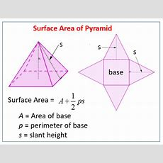 Surface Area Of A Pyramid (solutions, Examples, Videos, Worksheets
