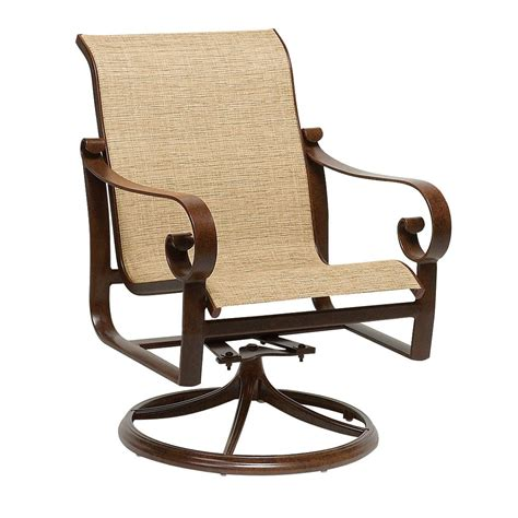 All materials are treated to resist weather. Swivel Rocker | Fabric dining chairs, Patio dining chairs ...