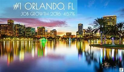 Growing Cities Fastest America Job Growth Metro
