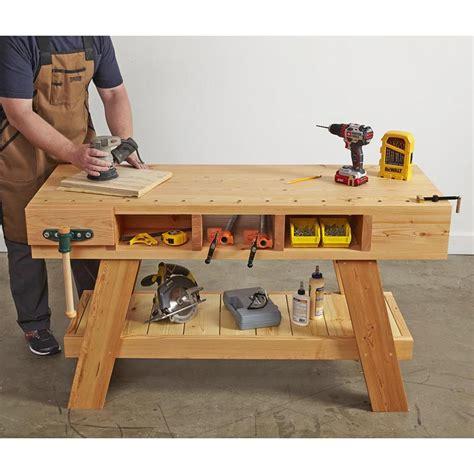 compact workbench plan  wood magazine