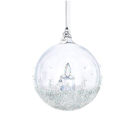 swarovski annual christmas ball ornament