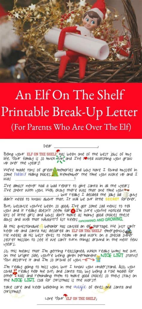 elf   shelf break  letter