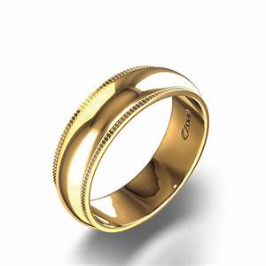 Grooved Two Tone Wedding Band In 14k White Yellow Gold