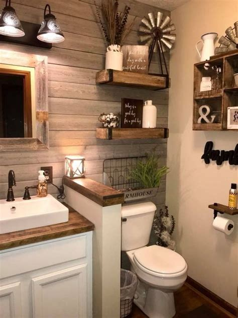 Wall Decor For Small Bathroom by Gorgeous Rustic Bathroom Decoration Ideas 42 Small