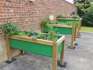 Potager En Bac : bac de jardinage sur lev teciverdi ~ Preciouscoupons.com Idées de Décoration