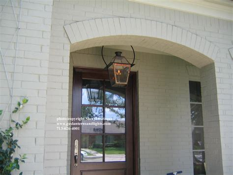 sheryls  orleans style gas lantern  glass top