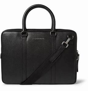 Burberry Full-Grain Leather Briefcase in Black for Men ...