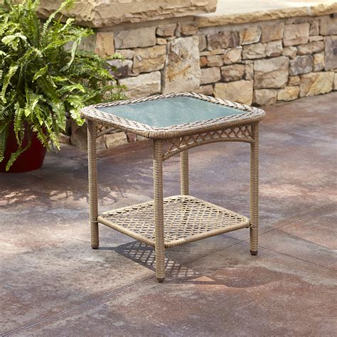 grand harbor jamestown side table outdoor living patio