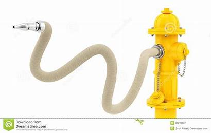 Hose Fire Hydrant Spraying Yellow Clipart Clip