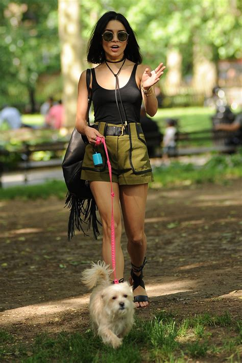 VANESSA HUDGENS Taking Her Dog to a Park in New York ...