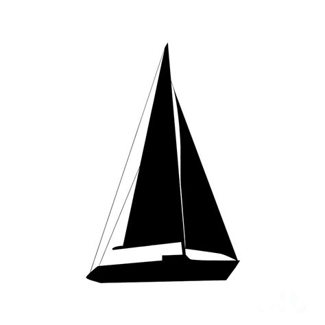 Sailboat Black And White by Sailboat In Black And White Digital Art By Jackie Farnsworth