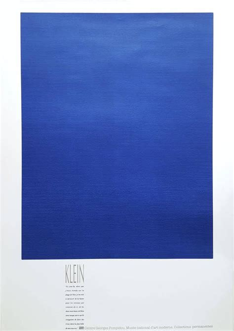 Interiors Home - yves klein monochrome bleu ikb 3 print for sale at