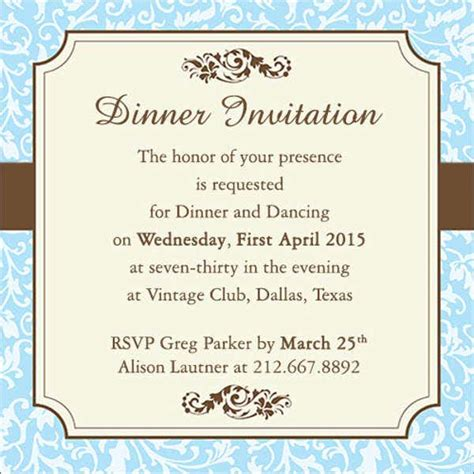 work dinner invitations word psd publisher