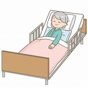 寝たきりのおばあさんのイラスト🎨【フリー素材】|看護roo![カンゴルー]