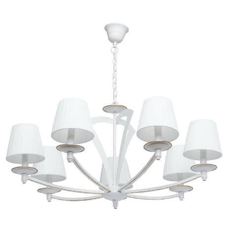 lustre metal blanc design en image