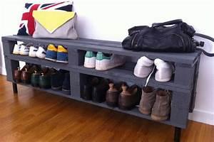 Petit Meuble A Chaussure : fabriquer un meuble chaussure avec des palettes ~ Teatrodelosmanantiales.com Idées de Décoration