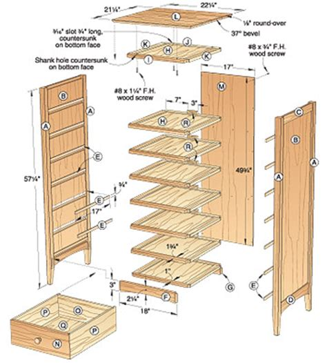 woodwork chest  drawers design plans  plans