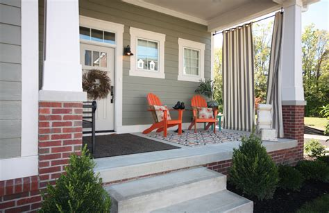 Craftsman Style Porches And Columns by Wonderful How To Make Outdoor Curtain Rods Decorating