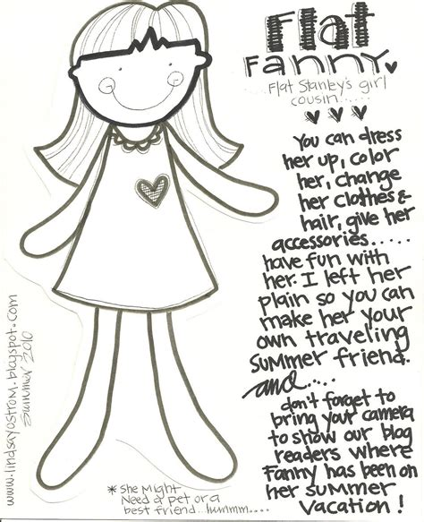 Flat Stanley Template Free Flat Stanley Coloring Pages Az Coloring Pages