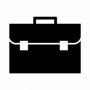 Briefcase frontal view free icon Free flat icons