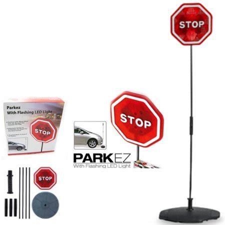 parking stop sign parkez flashing led ligth car garage