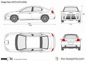 Dodge Neon SRT4 ACR vector drawing
