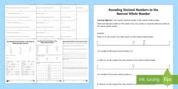 rounding decimals worksheet activity sheet rounding