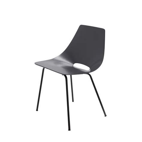 chaise tonneau gris anthracite guariche amsterdam
