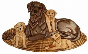 Intarsia Labrador-ables Intarsia Pattern and piece