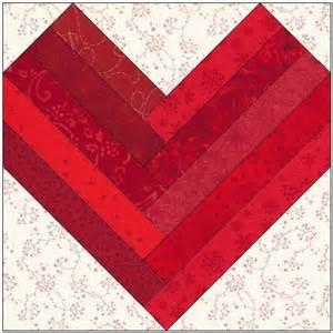 Heart Quilt Block Pattern