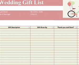 gift list template 28 images 27 gift list templates With wedding shower gift list template