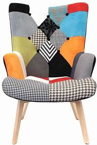 fauteuil design colore patchwork With fauteuil design patchwork