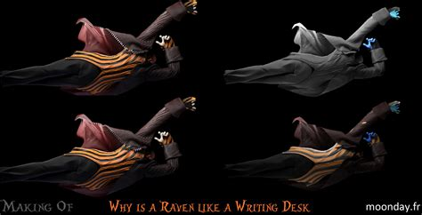 pourquoi un corbeau ressemble 224 un bureau of moonday