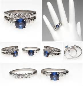 blue sapphire wedding ring sets mehandi designs world blue sapphire engagement ring bridal set platinum rings