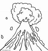Coloring Explosion Getdrawings Volcanic sketch template