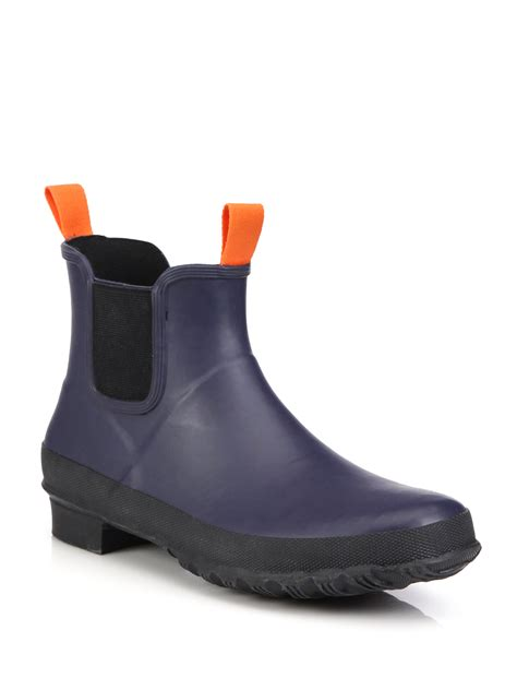 swims charlie rubber chelsea boots  black  men lyst
