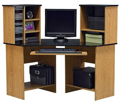 modern computer desk with hutch furniture contemporary amer wood oak corner computer
