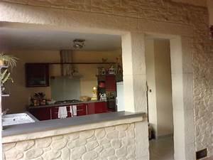 decoration cuisine avec pierre With cuisine avec mur en pierre