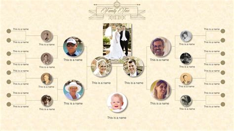 A free version and a $4 editable version. Family Tree PowerPoint Templates - SlideModel