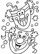 Carnival Coloring Pages Simple sketch template