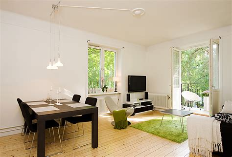 Simple Apartment Designs by Apartment With Light Wood Floors Painted White Walls