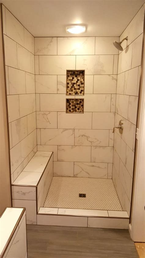 grouted    tile  marble  schluter edging